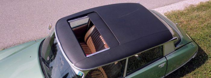 ma ds 23 ie pose d un toit ouvrant electrique authentique d poque pour ds citrothello. Black Bedroom Furniture Sets. Home Design Ideas